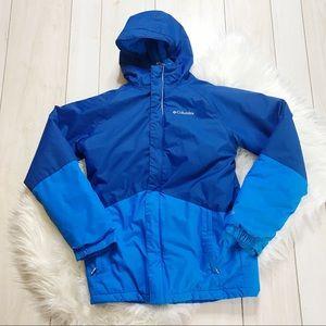 Boy's Columbia Omniheat Blue winter coat L